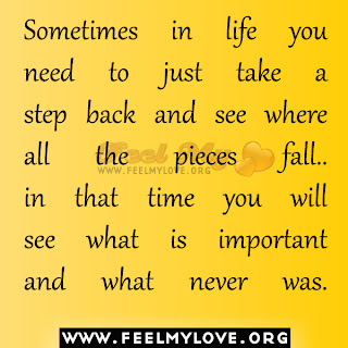 Sometimes in life you need to just take a step back