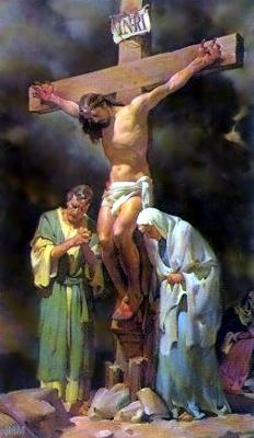 Jesus sua mãe e João