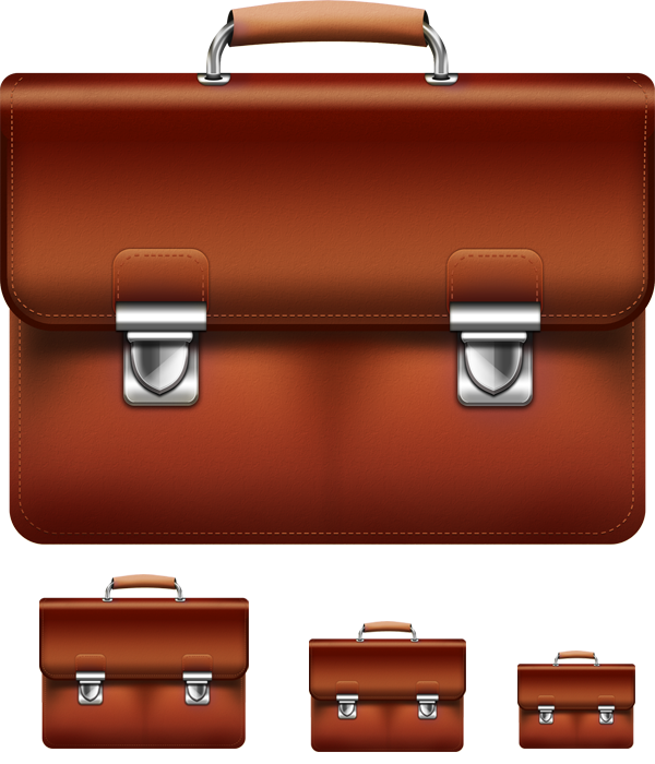 Leather Briefcase Icon PSD