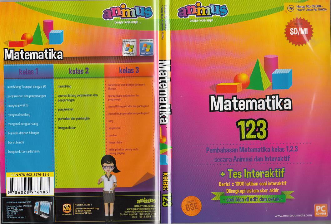 Toko Buku Rahma Cd Animus Matematika Kelas 1 2 3 Sd Mi