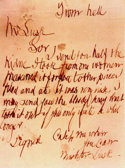 From Hell, la lettre de Jack l'Éventreur