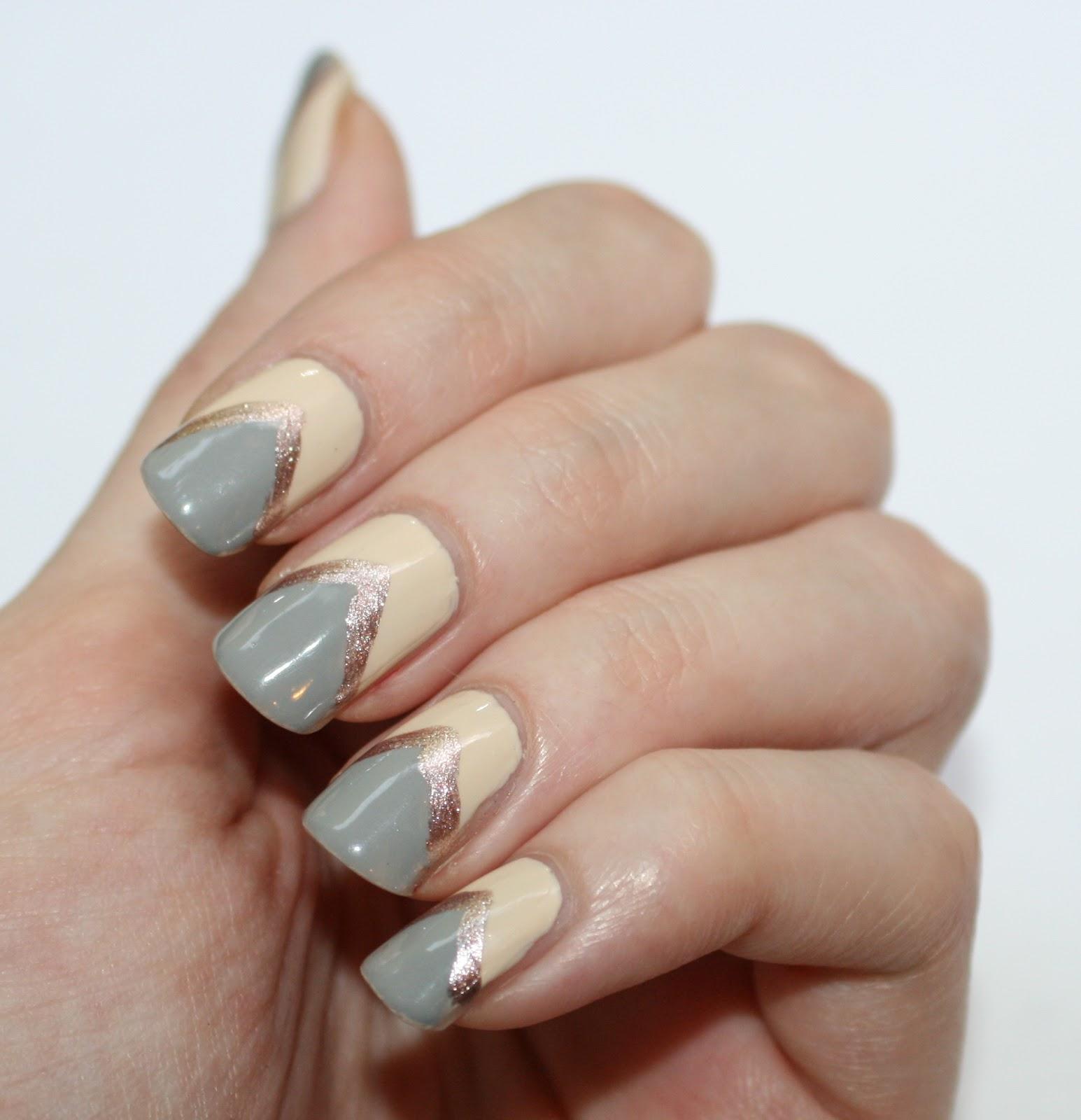 evlady: Mixed Neutrals Nail Art