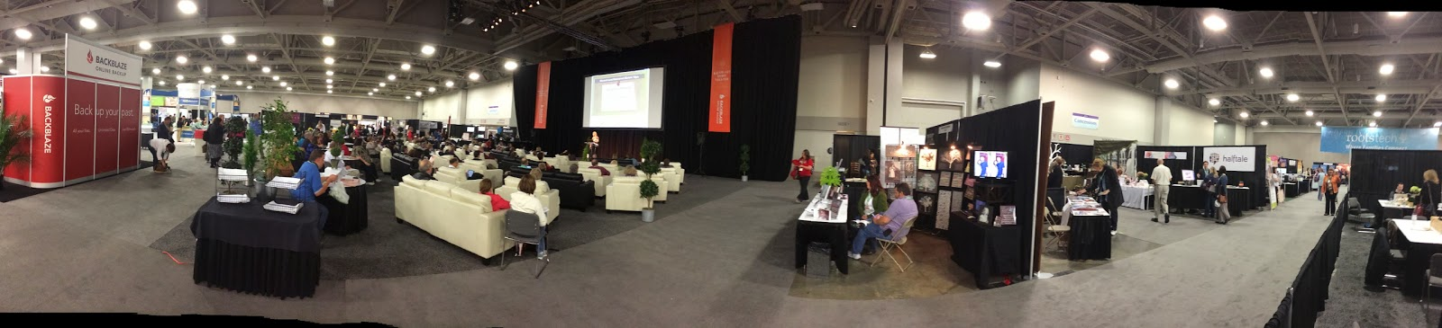 Expo Hall Panorama View from Media Center