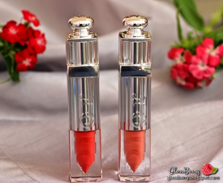 dior addict fluid stick review swatches lip color lipcolor lipgloss lipstick 338 mirage 552 joli reve nude beige coral orange glossberry סקירה דיור ליפגלוס גלוס חדש סטיק ביקורת גלוסברי ניוד אדום