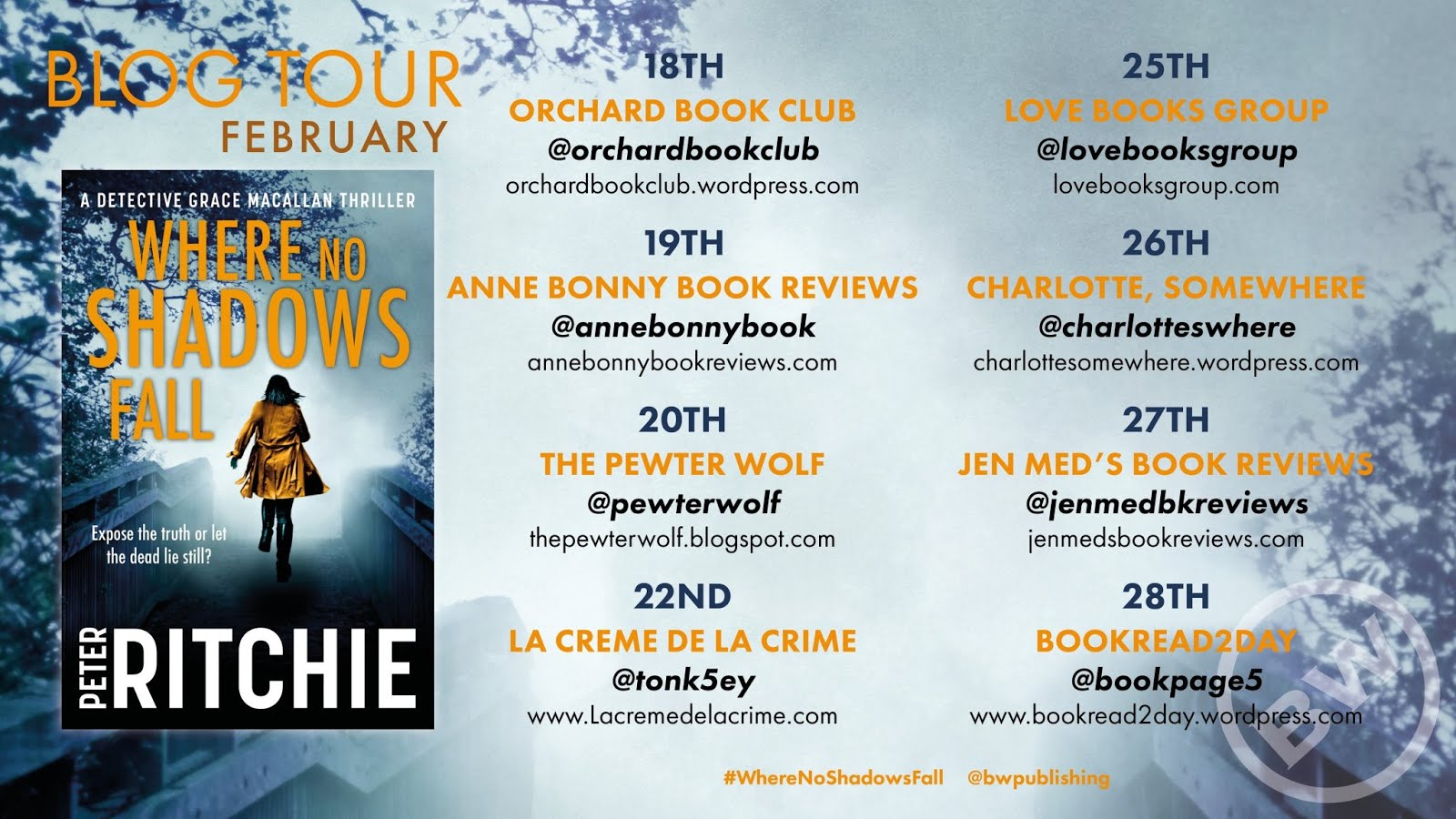 Where No Shadow Fall Blog Tour
