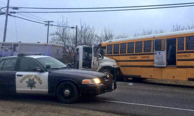 hilmar merced county bus truck crash fatality highway 165