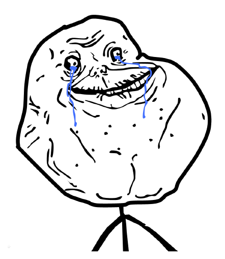 cartoon foreveralone