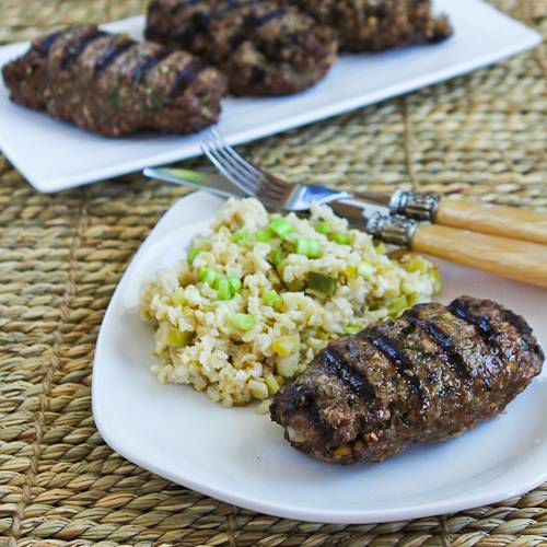 Hamburger Kebabs (Kabobs) Recipe | Kalyn's Kitchen®