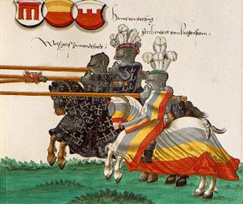 Ritorno al Medioevo 6+il+torneo+2+manoscritto+tedesco+XVI+sec