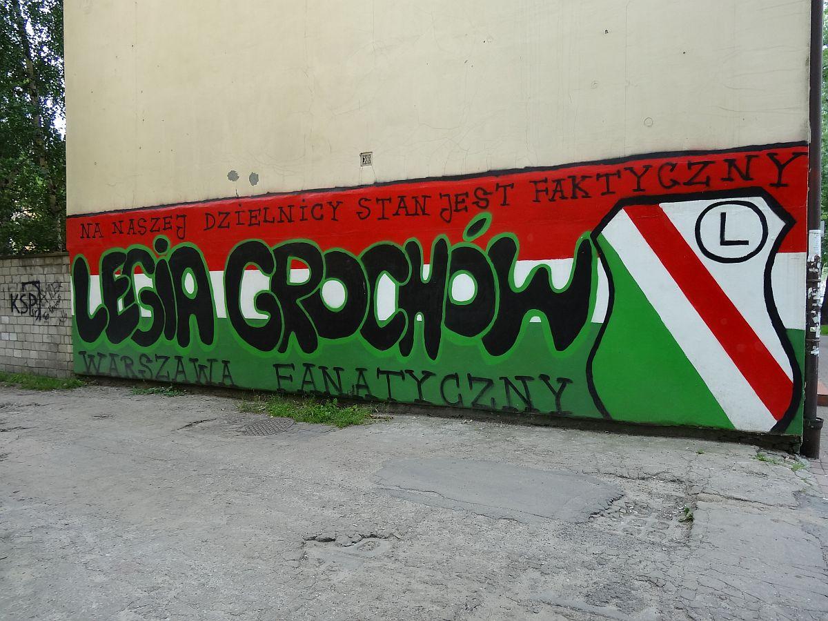 Mural Legia Grochów na Kordeckiego