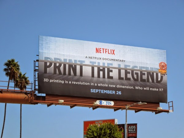 Print The Legend documentary movie billboard