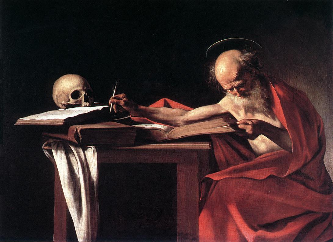 caravage saint jerome painting
