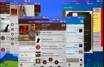 BBM Mod Path Style Version 2.7.0.23 Change Colour and New Look Apk