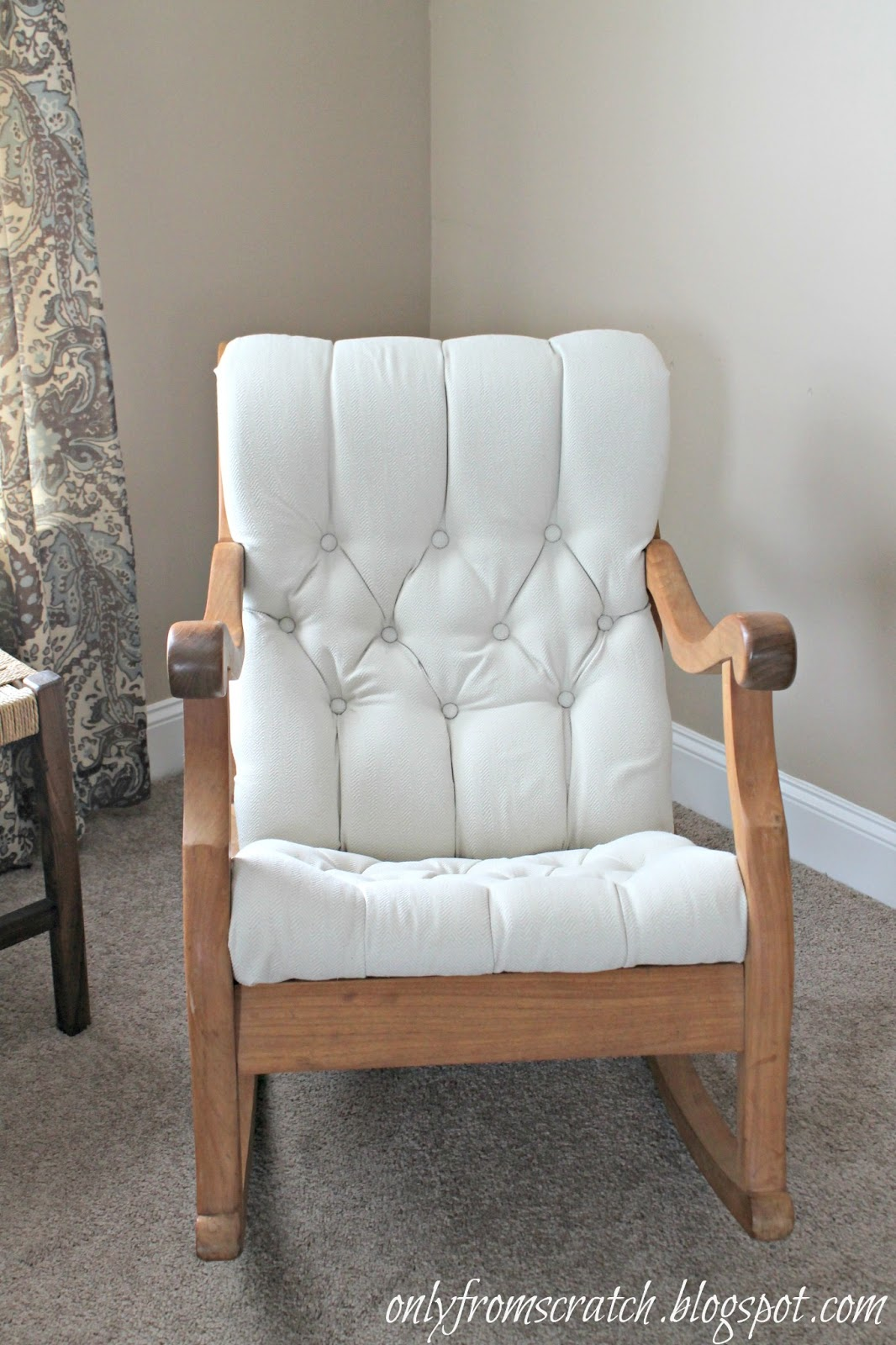 Tufted Rocking Chair Re do. Only From Scratch  Tufted Rocking Chair Re do