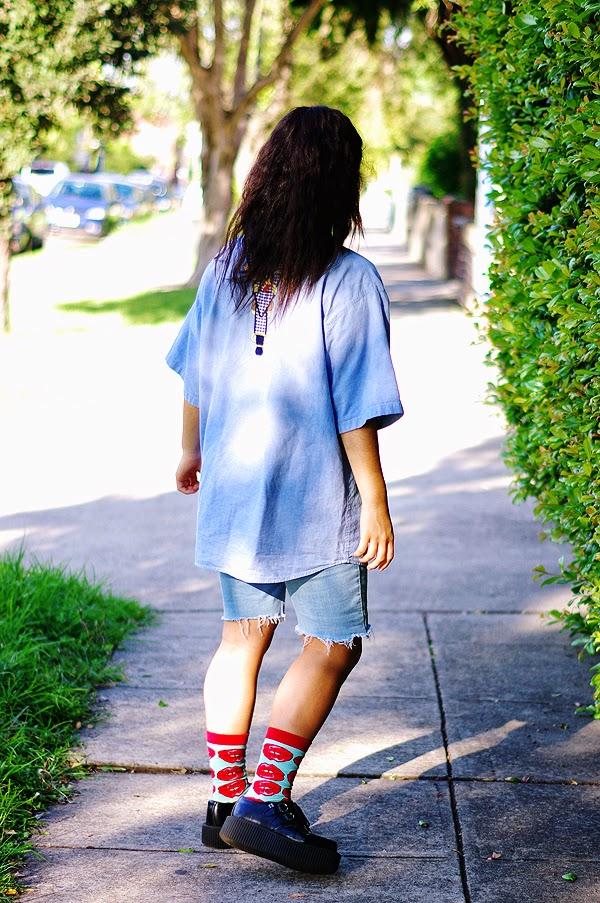 elashock, fashion, fashion blog, fashion blogger, teen, teenager, teen fashion blogger, japanese, australian, japan, english, pulp kitchen, tuk, creepers, diy, thrift, disney, lady and the tramp, style, エラショック, 女子高生, ファッション, ファッションブログ, ブロガー, 洋服, 厚底, ユニクロ, デニム, コーデ, コーディネート, おしゃれ, 日本語, 英語, オーストラリア
