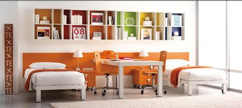 Kids-Bedrooms-Design-Ideas-With-Orange-Color-Creation
