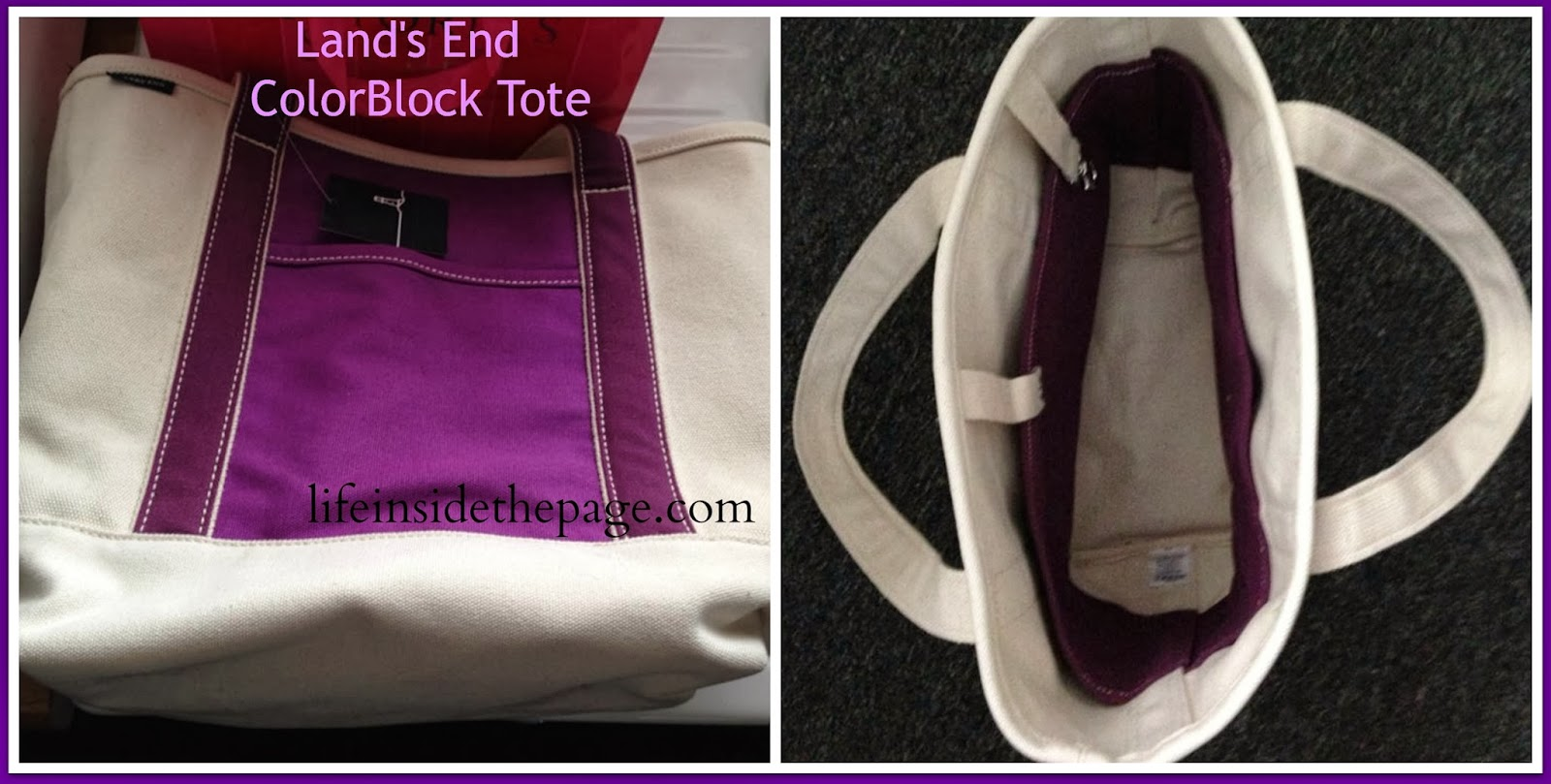 Lands End | Colorblock Tote | Clearance Sale
