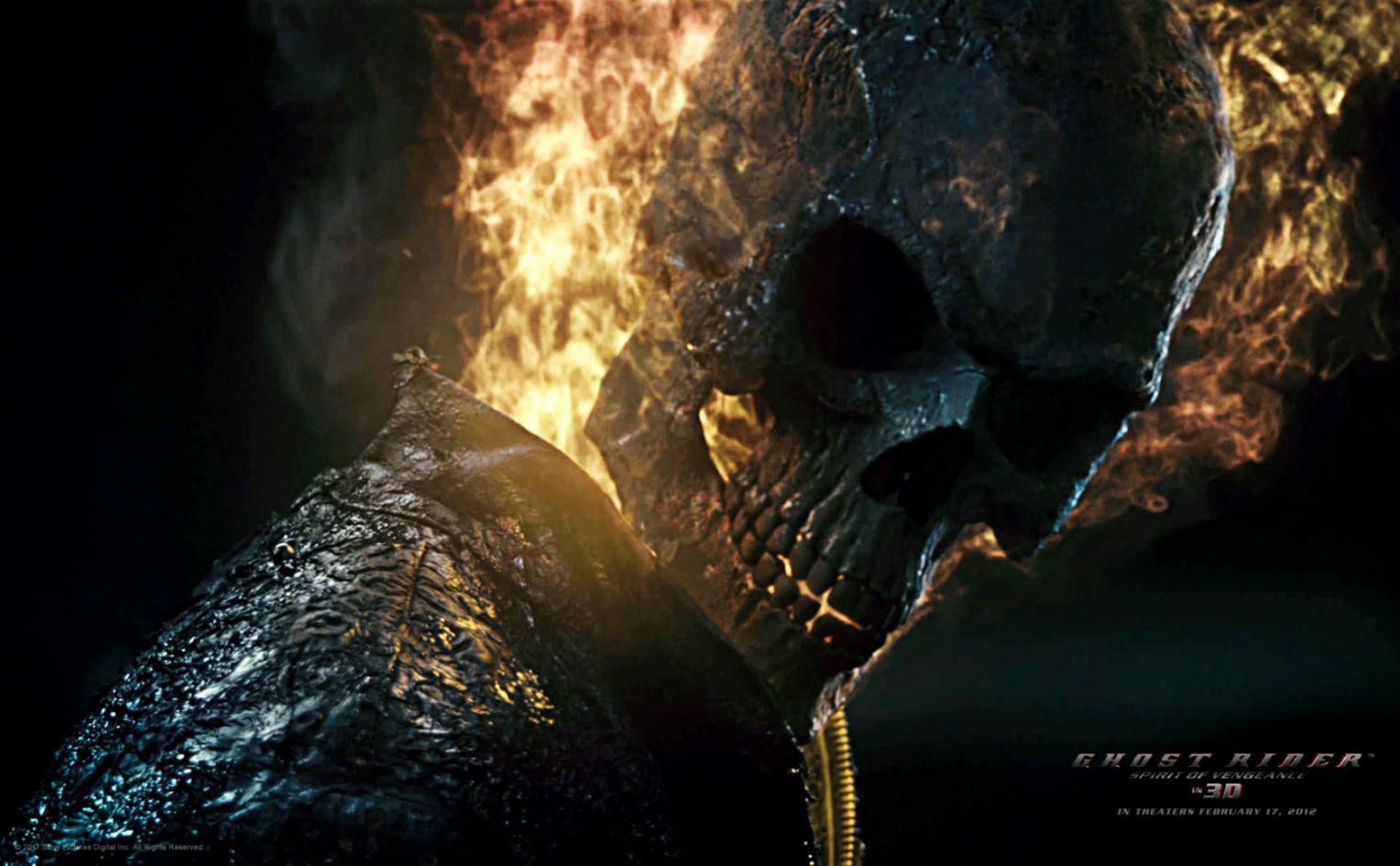 Ghost Rider Spirit Of Vengeance Skull Wallpapers