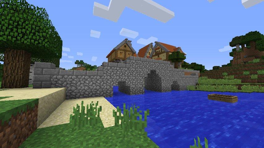 Mini tutorial minecraft puente medieval peque o for Como hacer una casa clasica de ladrillo en minecraft