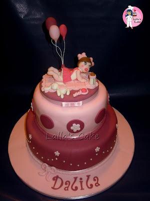 Dalila Cake Design Ricette : Torta per il battesimo di Dalila, mia nipote ^-^ Lalla s ...
