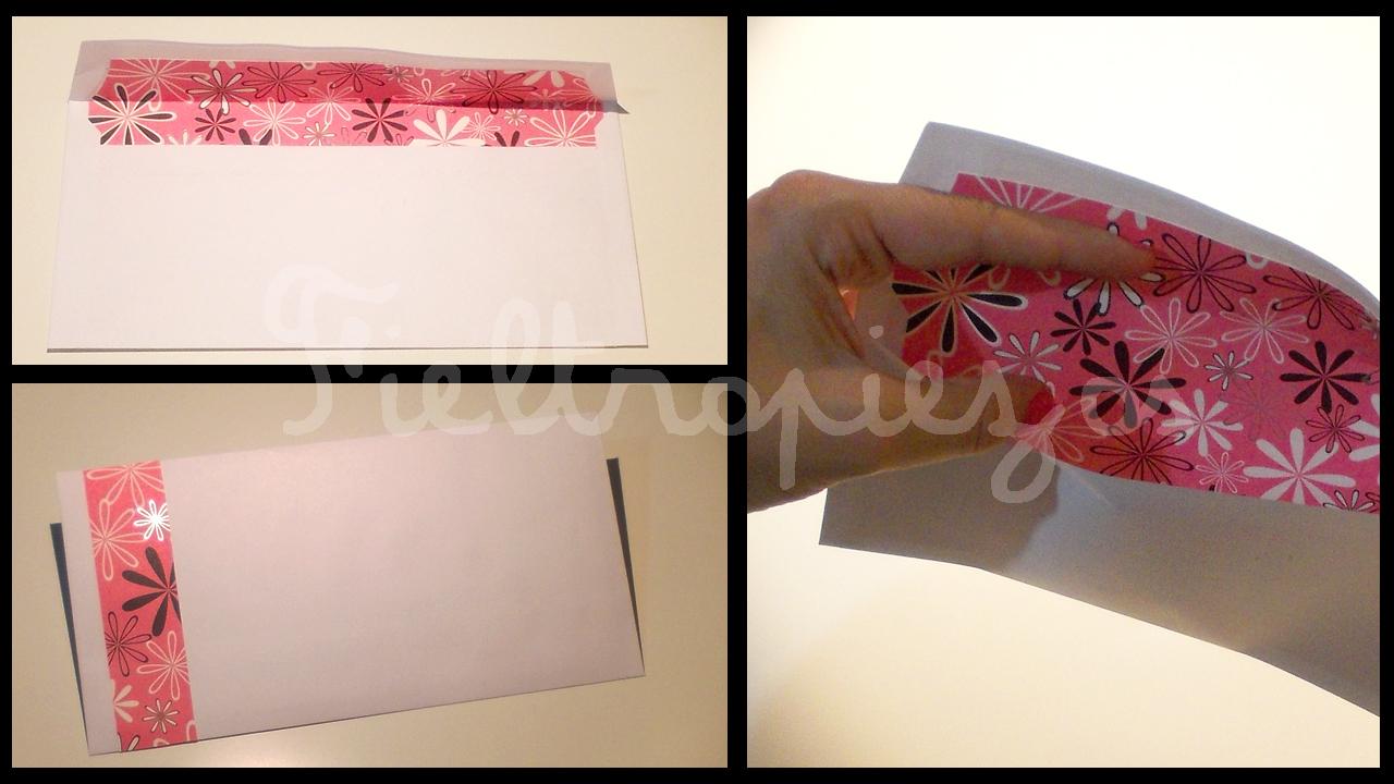 Fieltropiezos diy c mo decorar el interior de un sobre - Como decorar un sobre ...