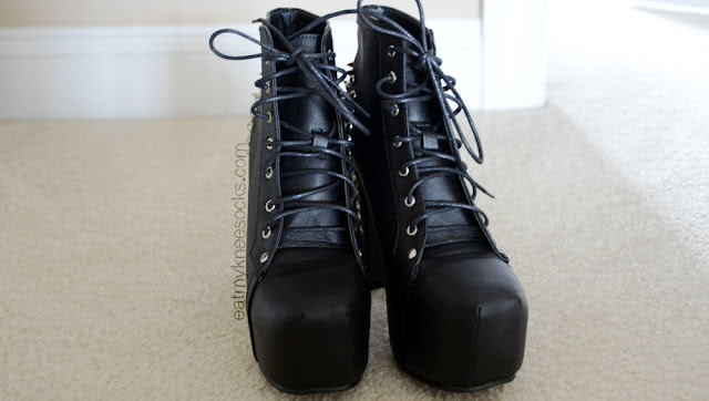 Milanoo sells these black spiked booties, a dupe of the Jeffrey Campbell Lita Spike shoes, for just a fraction of the price.