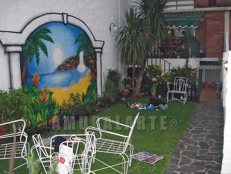 Amuralarte murales capital federal graffitis street for Mural jardin