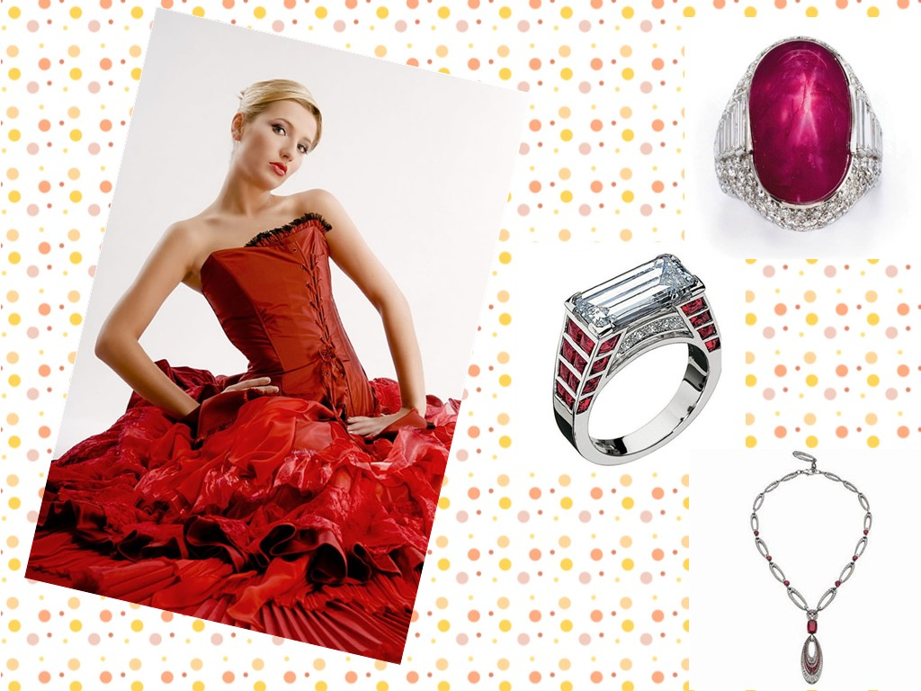 red ball gown prom dress