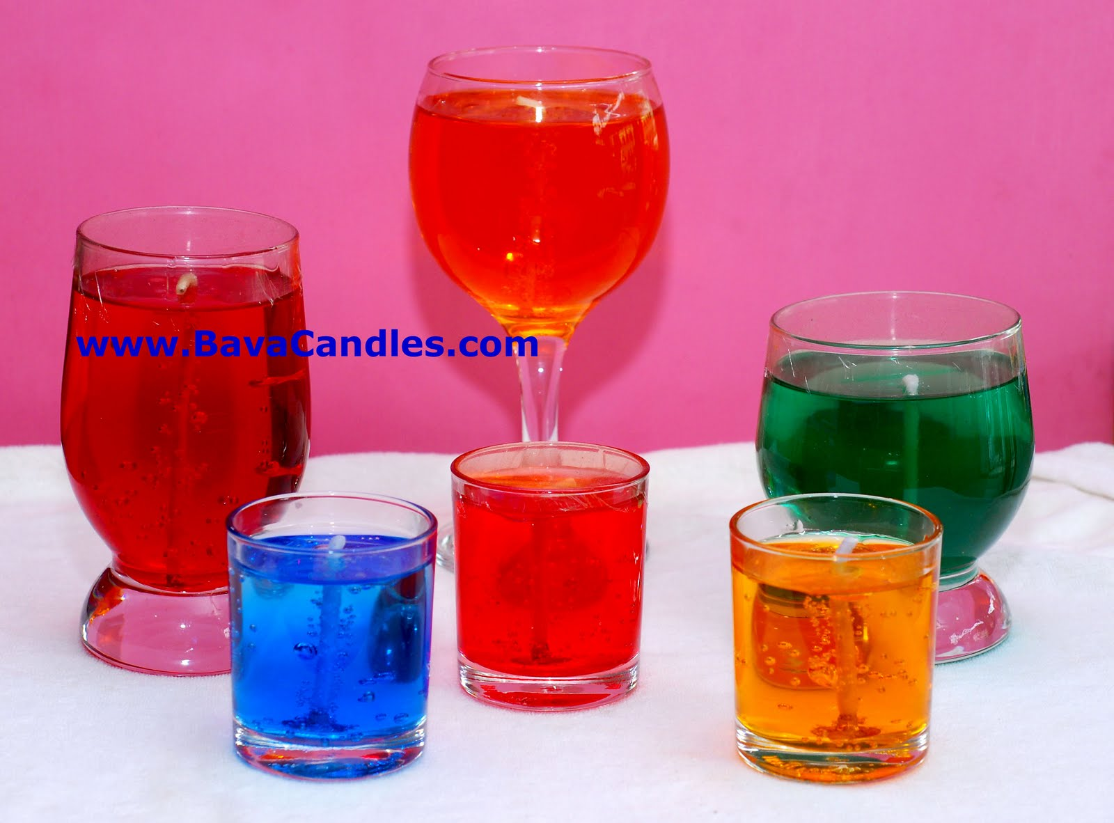 how to make gel candles with gelatin