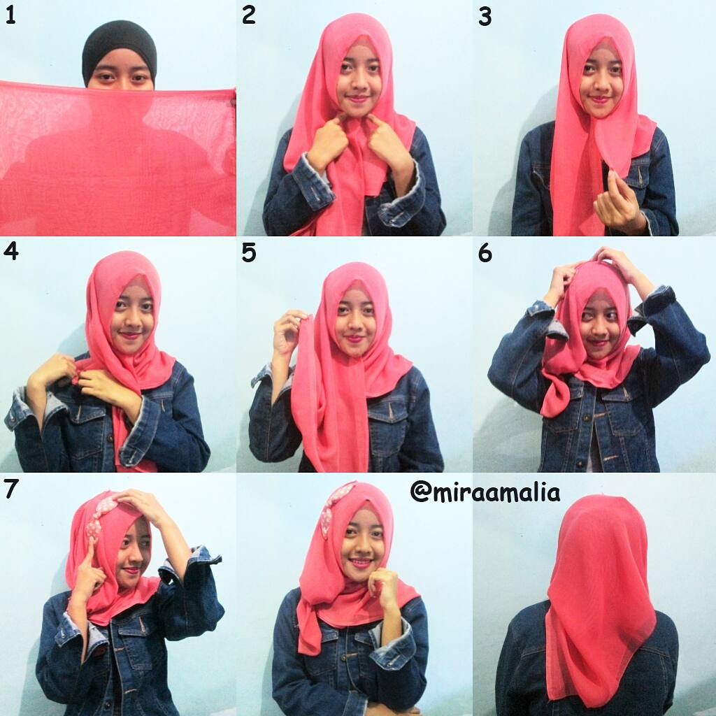 Mira Amalia Tutorial Hijab 22 Segiempat Simply Party
