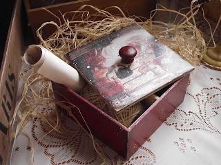Шкатулка в технике декупаж для чайных пакетиков
