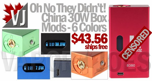 China 30W Box Mods in Six Colors