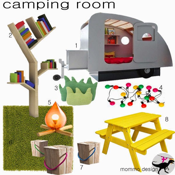 Mommo design moodboard camping room for Camping room decor