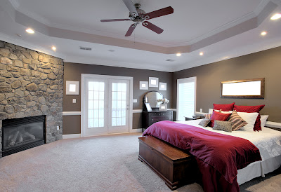Modern Bedroom with Classic Ceiling Fans