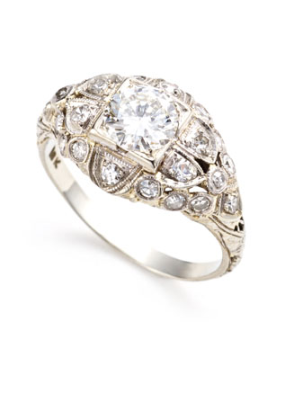 Wear an antiqueinspired ring filled with traditional charm and heirloom
