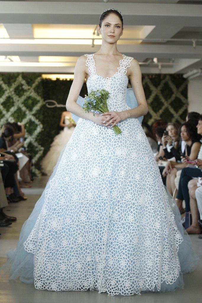 special wedding gowns : Two-Tone Dresses--2013 wedding trend