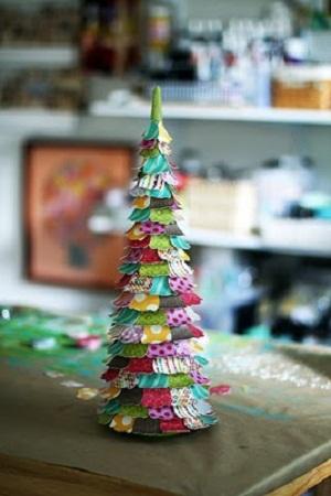 Un rbol de navidad f cil barato y bonito - Arbol navidad barato ...