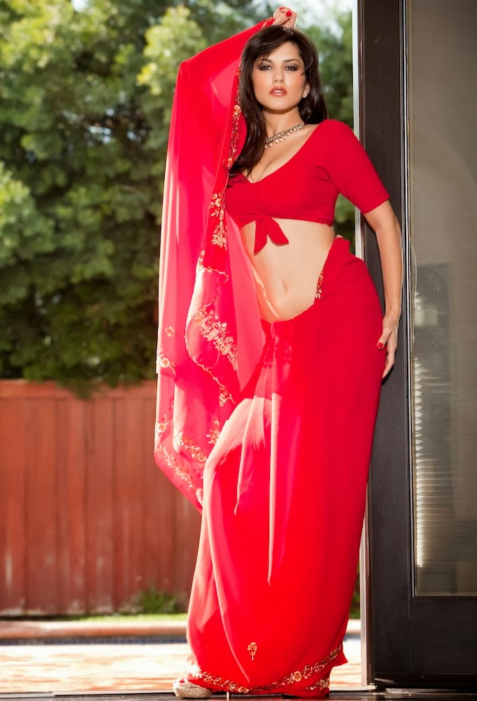 sunny leone red dress Happy Valentine's Day wallpapers
