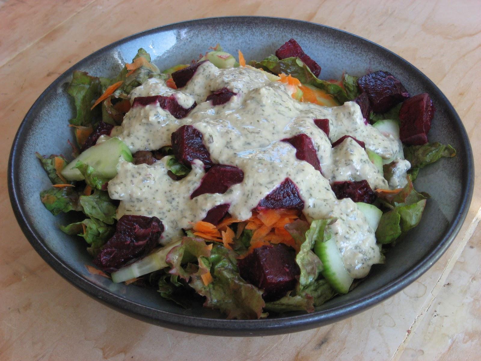 Creamy Herb Salad Dressing {vegan} - Recipes to Nourish