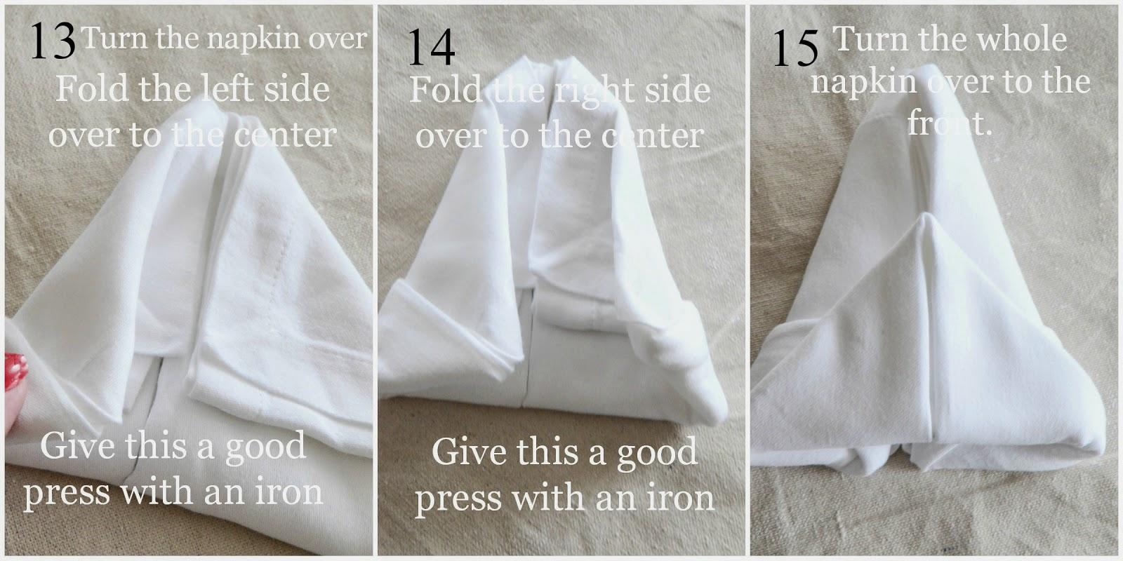 Bunny fold napkin diy - Fold bunny shaped napkin ...