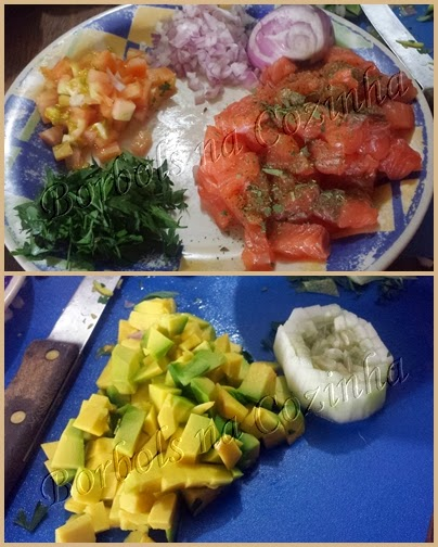 Guacamole e Tartar de Salmão