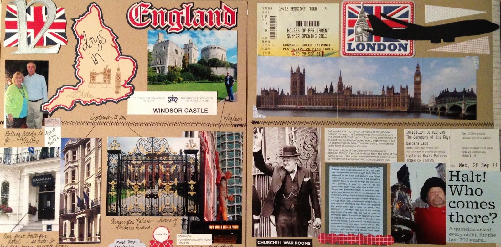Scrapbook paper england - A Month S Worth Of Layouts