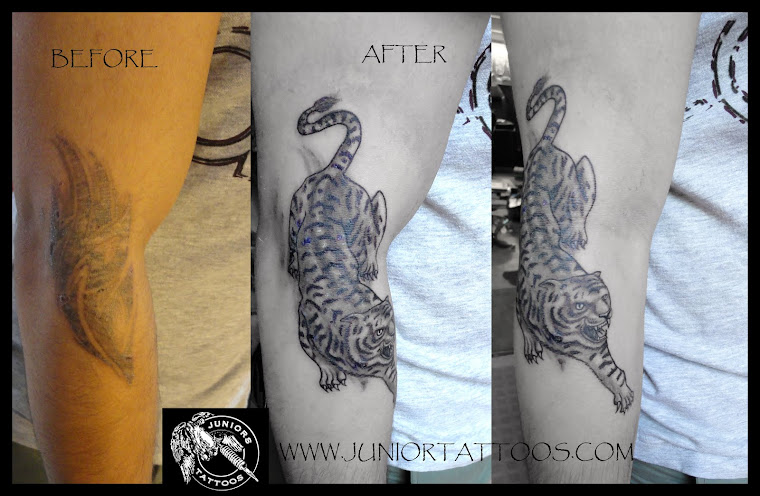 Tiger Cover up tattoo