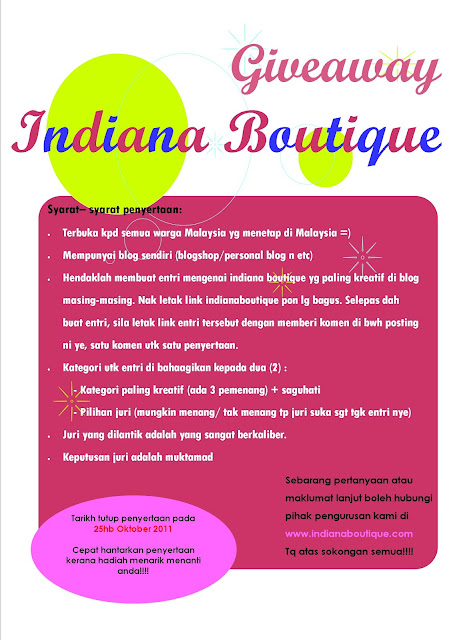 GIVEAWAY INDIANA BOUTIQUE