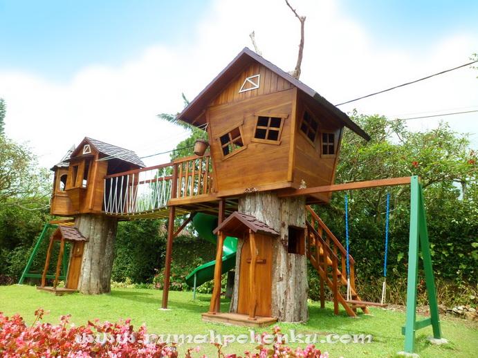 Nama produk playground rumah pohon ukuran 12 m x 5 m tinggi 4 5 m