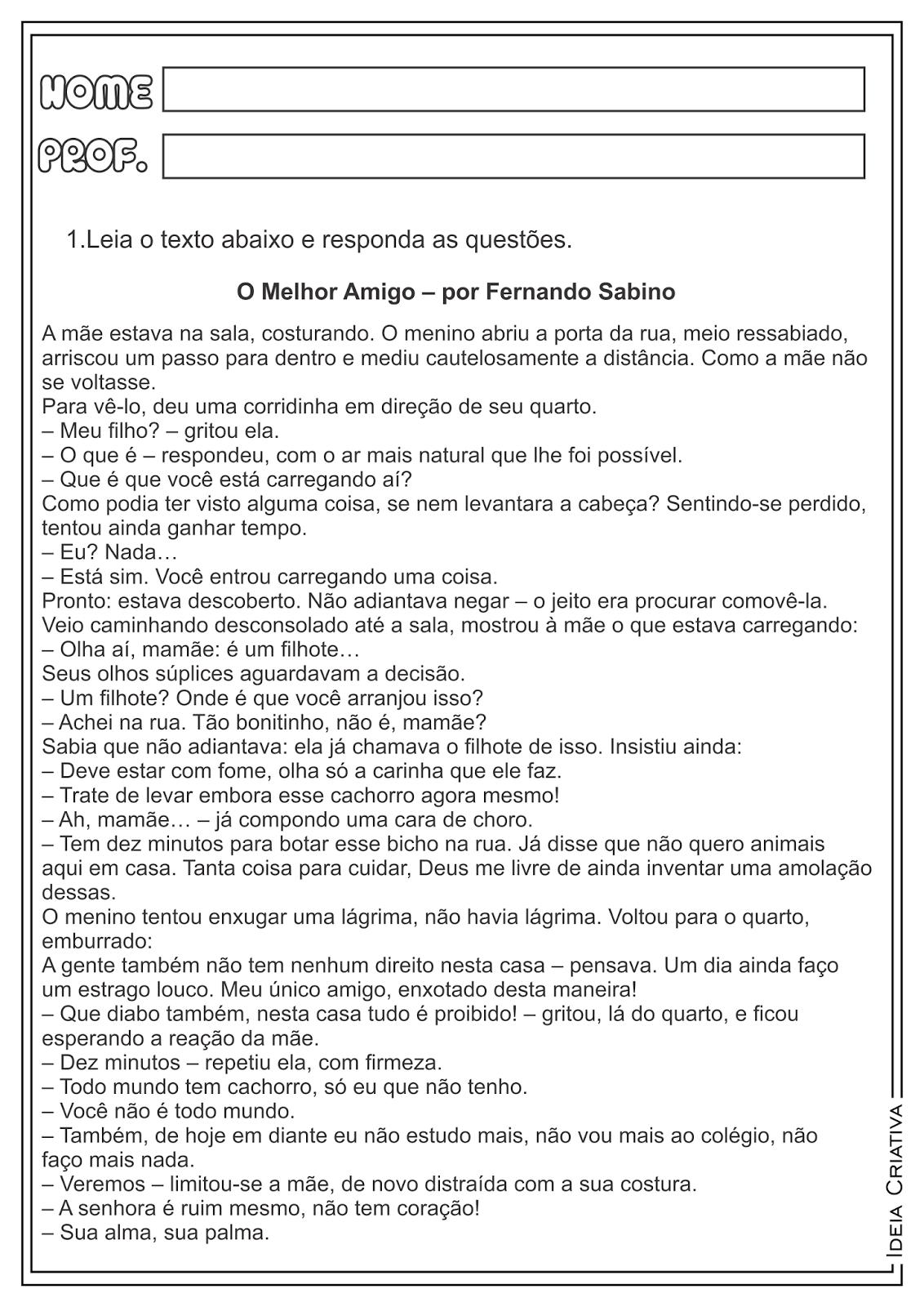 Favoritos Lipitipi- Atividades e Projetos Fundamental I: Atividade Gênero  ON02