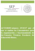 Acuerdo 15/10/17 Lineamientos organización y funcionamiento CTE