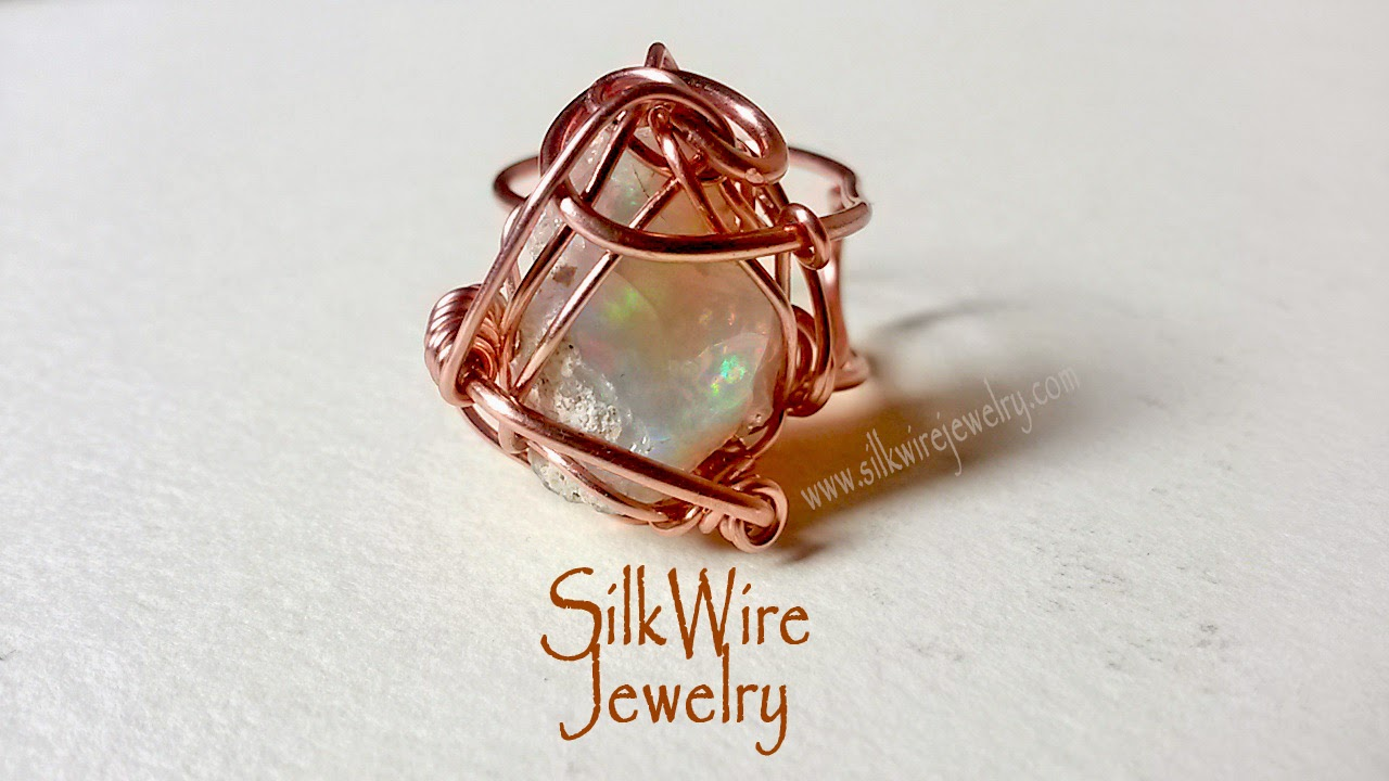 Opal ring by SilkWire Jewelry