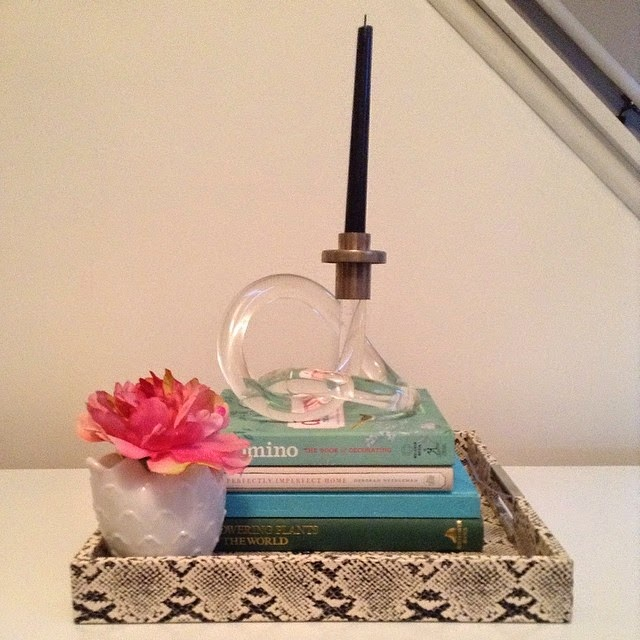#thriftscorethursday Week 18 Features | Instagram user: goodwillglamblog shows off this mid-century lucite knot candle holder