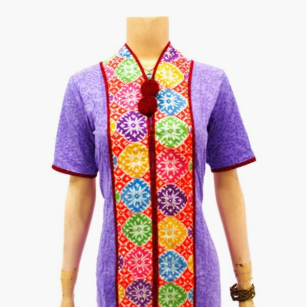 DB3745 Model Baju Dress Batik Modern Terbaru 2014